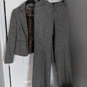 Express Tweed Gray Two Piece Suit